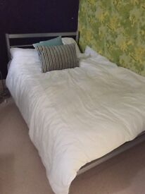 Small double bed frame and mattress