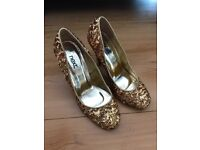 Brand New Gold sequinned Next shoes