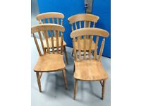ASSORTMENT OF FARMHOUSE DINING CHAIRS