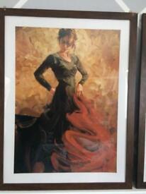 Spanish dancer paintings