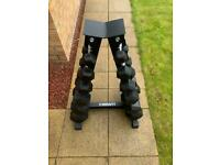 Full set of Dumbbells weights with rack included- Immaculate condition