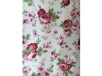 Cath Kidson rose print ring top curtains (Two pairs)