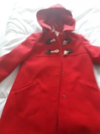 Girls red coat (john lewis) age 6years
