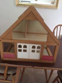 Child's wooden dolls house
