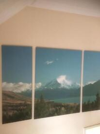 Next - huge canvas scenery wall covering . ( painting, picture frame,)