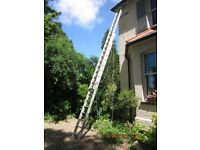 LADDER, Aluminium triple section rope operated Gravity series 300
