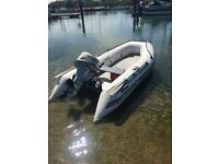 Quicksilver 3.1m Airdeck inflatable boat sib / Honda 10hp four 4 stroke outboard engine