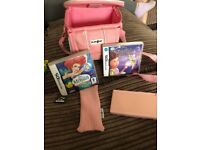 Pink Nintendo ds game console
