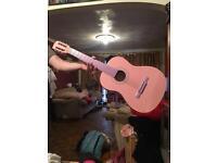 "Classic 36"" junior pink guitar"