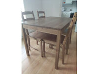 Demountable Wooden Ikea Dining Table with 4 Chairs