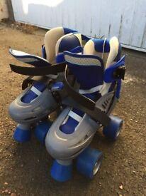 SFR Storm – Kids Adjustable Quad Skates - Blue/Grey; Size UK 12-2; Hardly Used