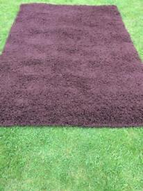 Chocolate Brown soft Everest shaggy Rug 160 x 230 cm Living/Bedroom Carpet