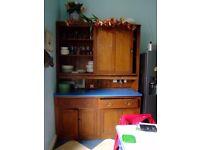 Used kitchen units, worktops, Blue Rangemaster Gas hb& oven, American style Samsung fridge freezer