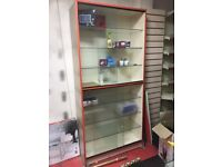 Glass shop retail display cabinet