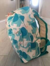 Elephant themed mini backpack
