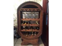 Large Oval Solid Java Teak Wine Rack