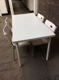 White IKEA kitchen table & 4 chairs