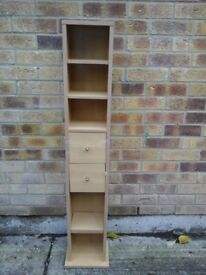 Laminate light wood DVD/CD cupboard - Slight damage from sticky tape
