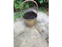 Coal bucket brass small