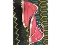 Firetrap girls pink boots size 9