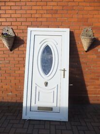 White PVC door with frame