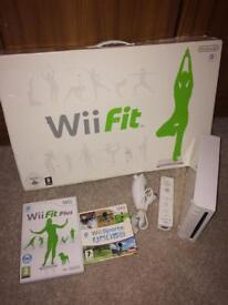 Nintendo Wii fit console and Wii sports