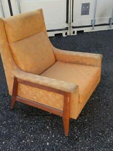 Oakville Vintage Midcentury Armchair - Project needs new upholstery. Big deep seat very comfy