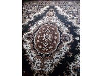 New black and gold oriental carpet forsale
