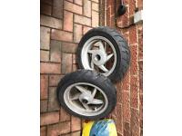 Sym symply 50 wheels and tyres