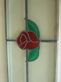 Double Glazed Rose Stained Glass Window