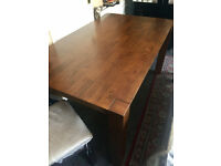Dining Table, Brown, Wood Table
