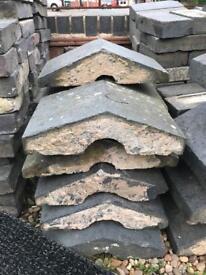 Blue brick coping stones