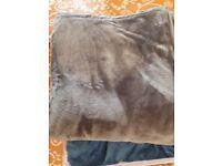 2 King size velvet comforter with under bed storage for £20