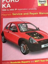 Ford ka Haynes manual p reg to 2002