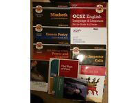 LOTS OF NEW COURSE GCSE CGP BOOKS, ENGLISH LITERATURE BOOKS, TEXT BOOKS AND WORKBOOKS
