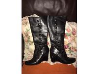 Miz Mooz knee high leather upper boots