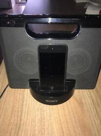 Sony iPod docking station with iPod touch