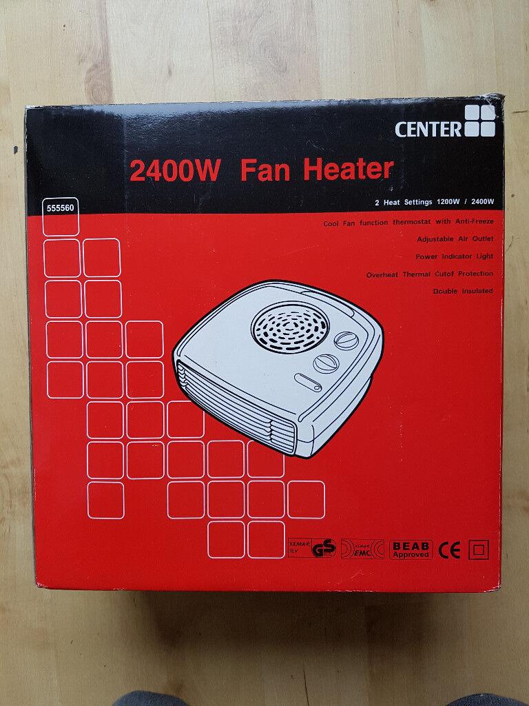 CENTER 2400W 2.4KW FAN HEATER - NEW