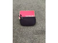 Purple real leather purse