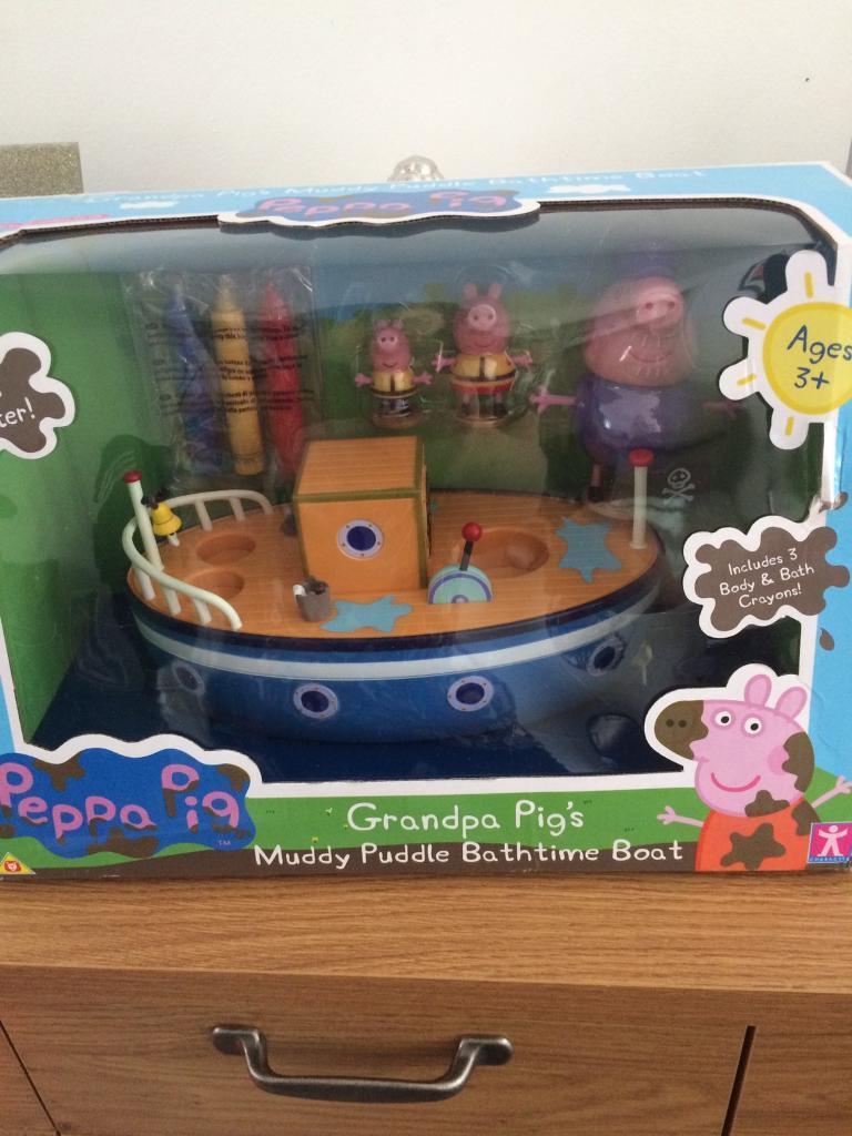 Brand new Grandpa Pig Bathtime Boat