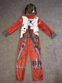 Star Wars Poe Dameron Fancy Dress/ dressing up outfit (5-6 Years)