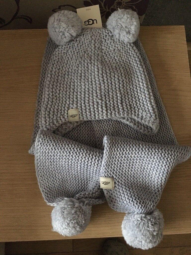 e9a0102f3e7 Child s ugg scarf n hat set
