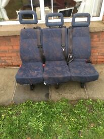 3 seater van seats with seat belts £75