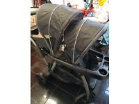 Double pushair free carseat bargain price