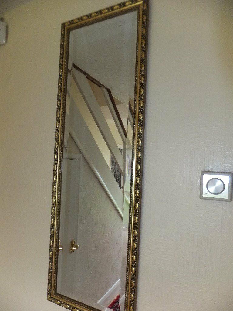 Classic gold framed mirror