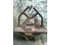 Vintage GB Railway Track Clamp Chair Bracket- good as fishing weight 50kg
