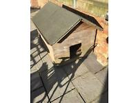 XL wooden sturdy bog box suitable for one large dog or separate (removable) section for 2 dogs