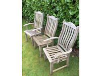 Set of 4 Alexander Rose Teak Garden Chairs