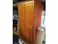 Antique pine wardrobe -Good Condition
