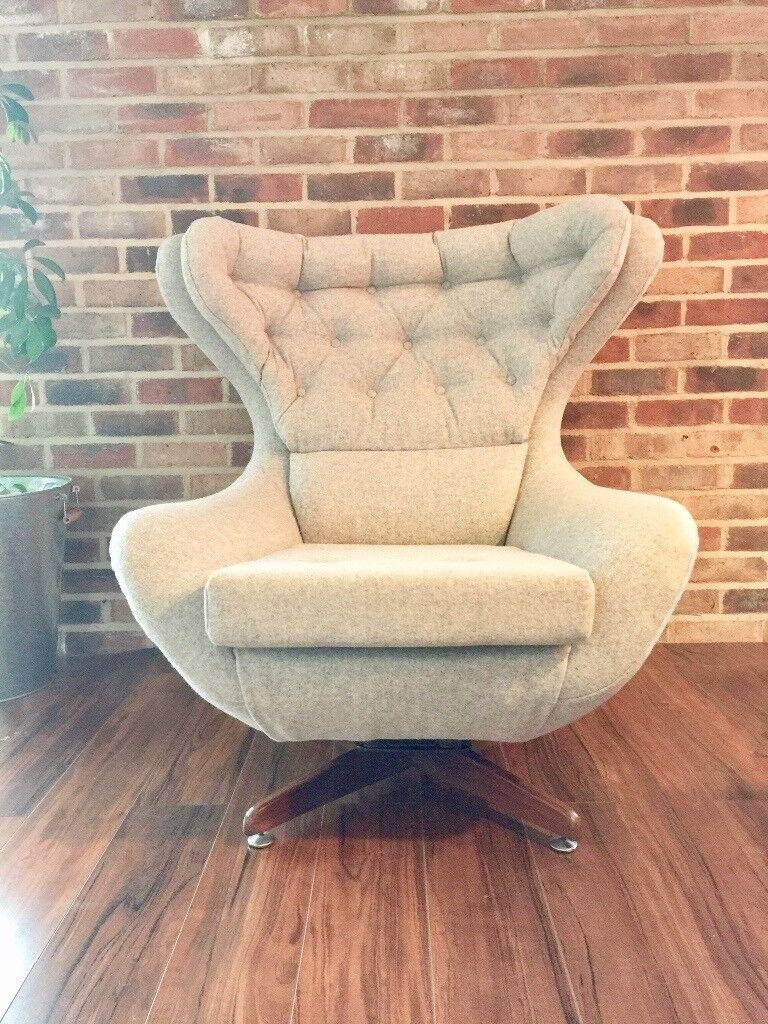 Vintage Retro G Plan Swivel Rocking Chair In